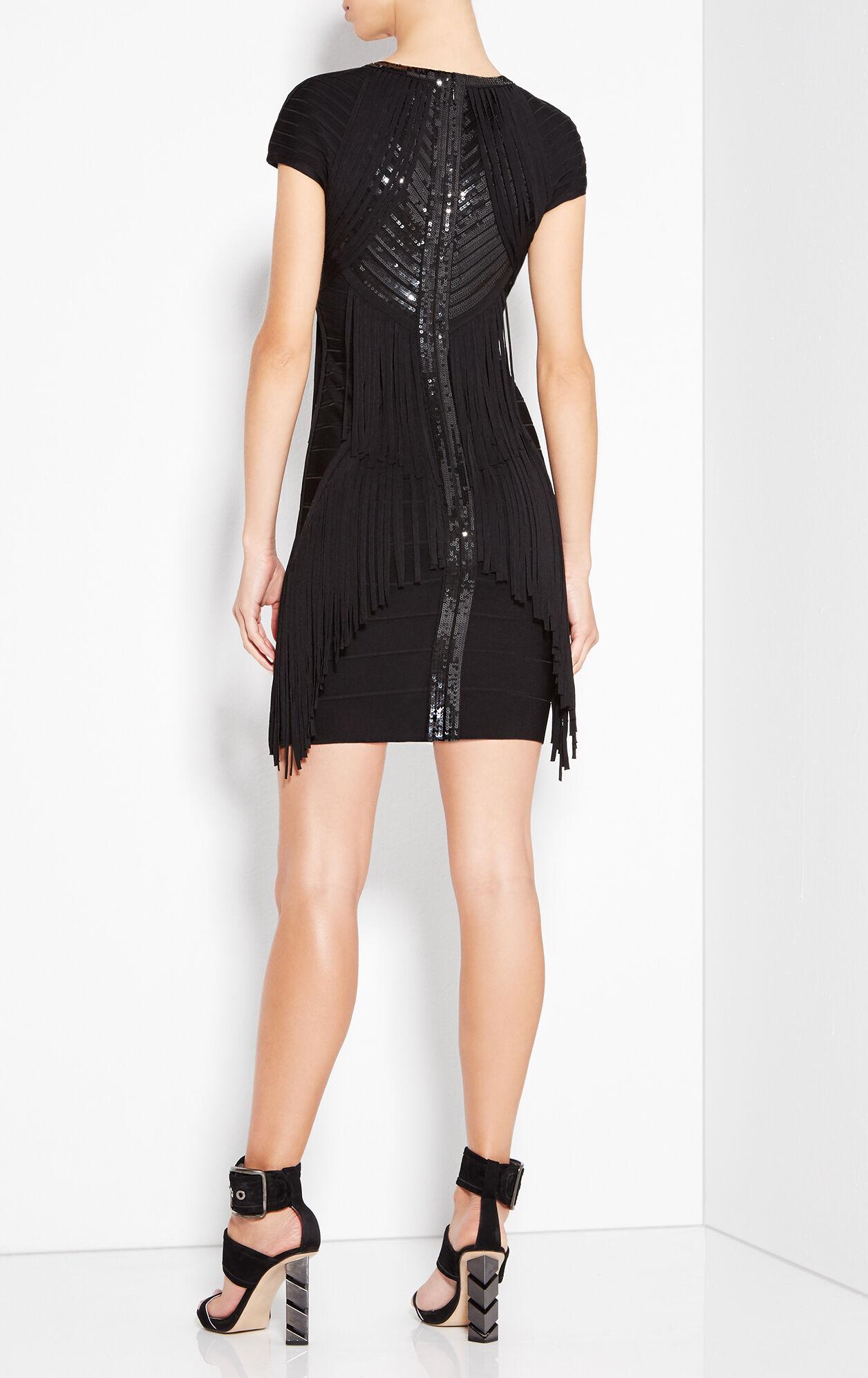 Kassidy Sequined Fringe Dress