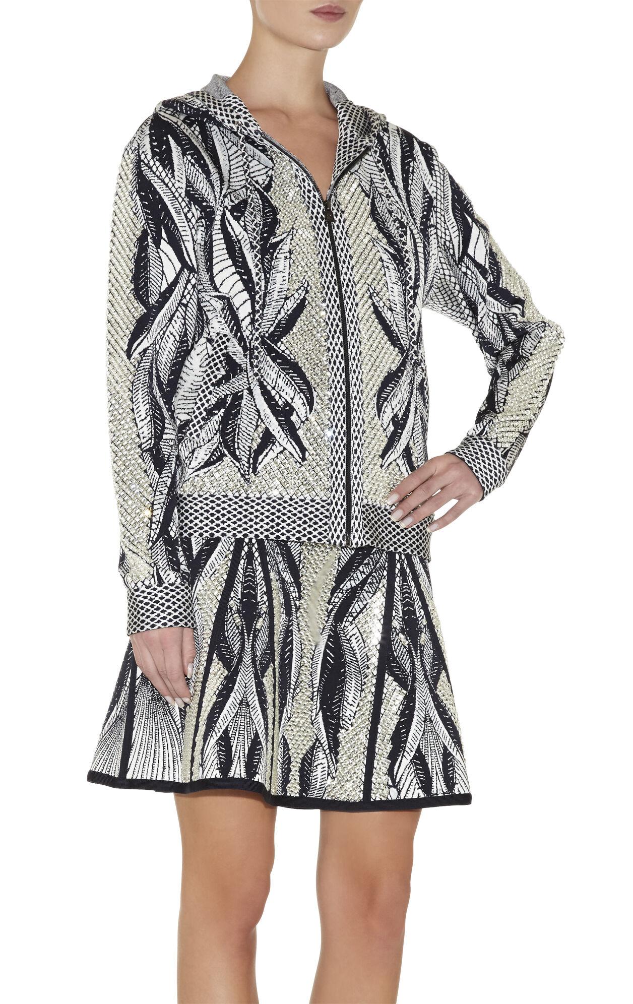 Ade Batik-Leaf Jacquard Jacket