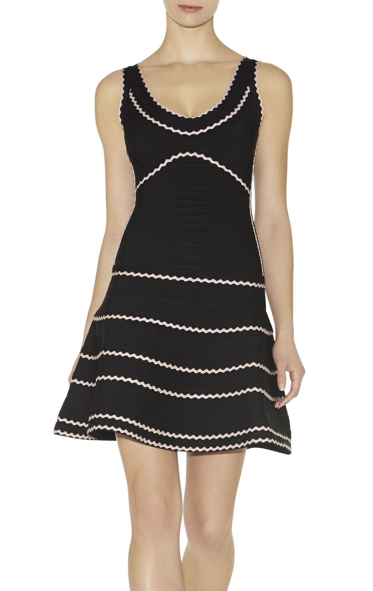 Hanah Tipped Scalloped-Edge Dress