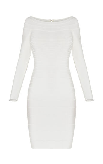Candice Off-The-Shoulder Bandage Dress