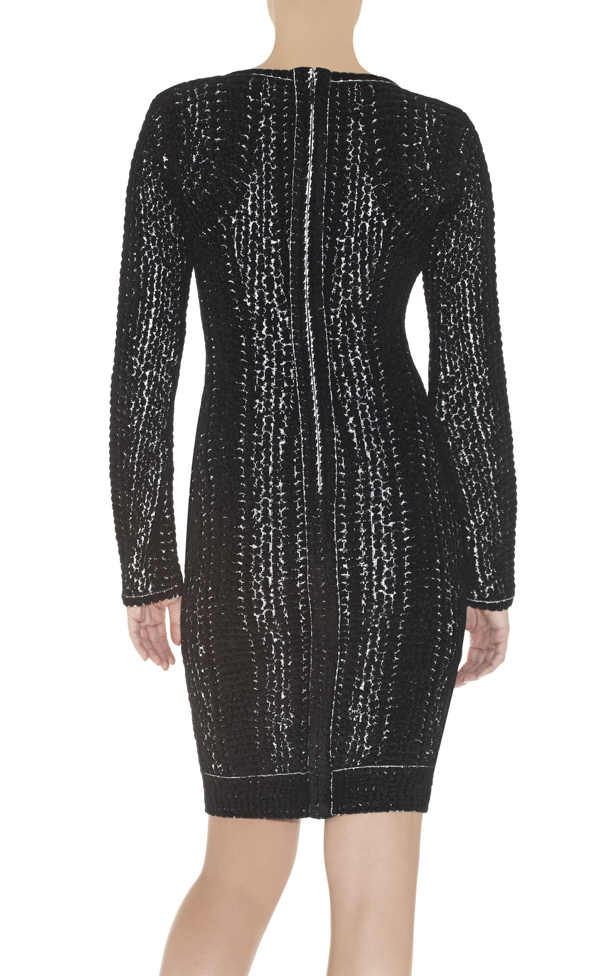 Niki Chenille Snake Jacquard Dress
