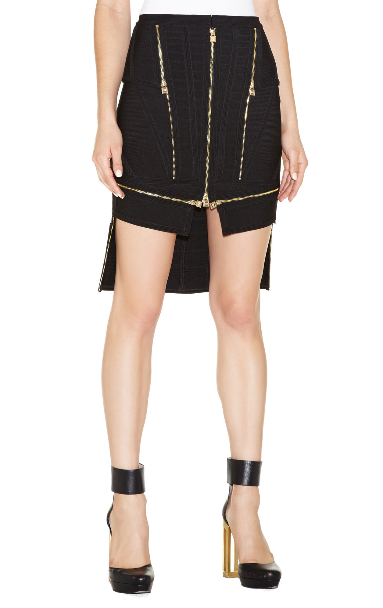 Ivan Zipper-Detailed Skirt