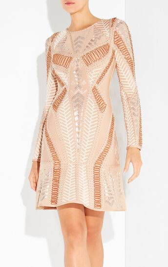 Anyia Mosaic Lacing Stud Detail Dress
