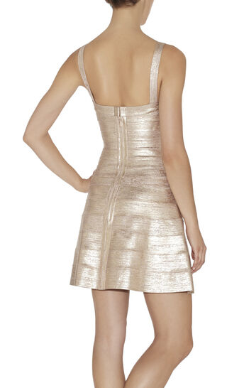 Faith Woodgrain Foil-Print Dress