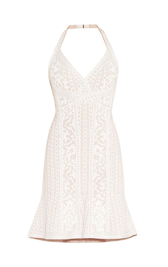 Danae Floral Diamond Jacquard Dress