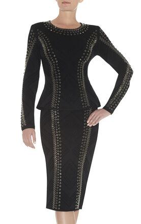Annika Engineered Textured Beading Top