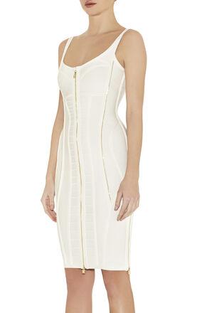 Veroni Zipper-Detailed Dress