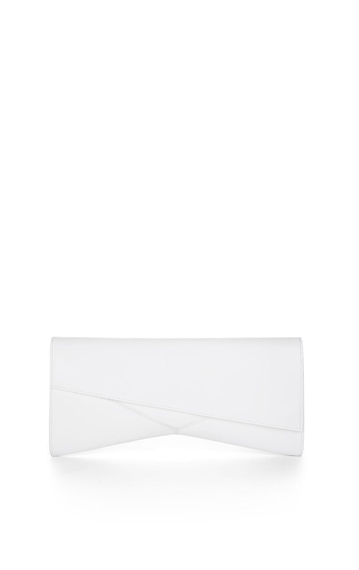 Ruby Asymmetrical Flap Clutch