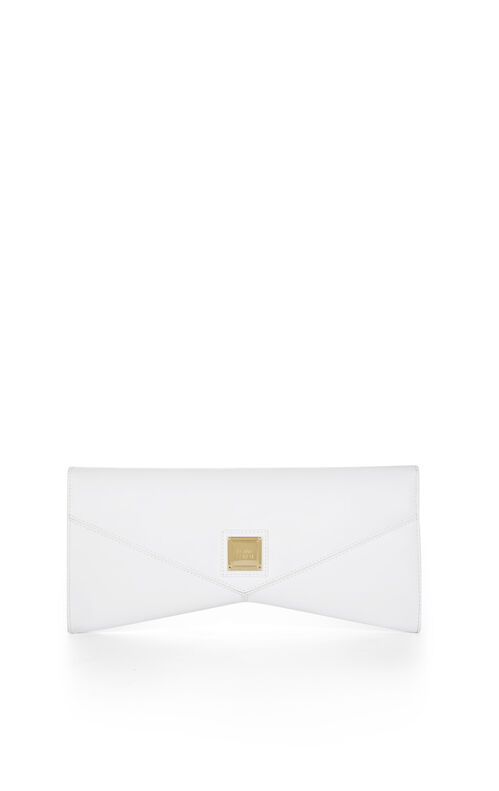 Ruby Asymmetrical Flap Clutch