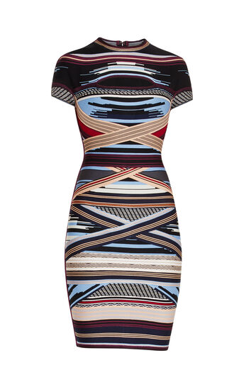 Lisette Engineered Multi-Stripe Dress