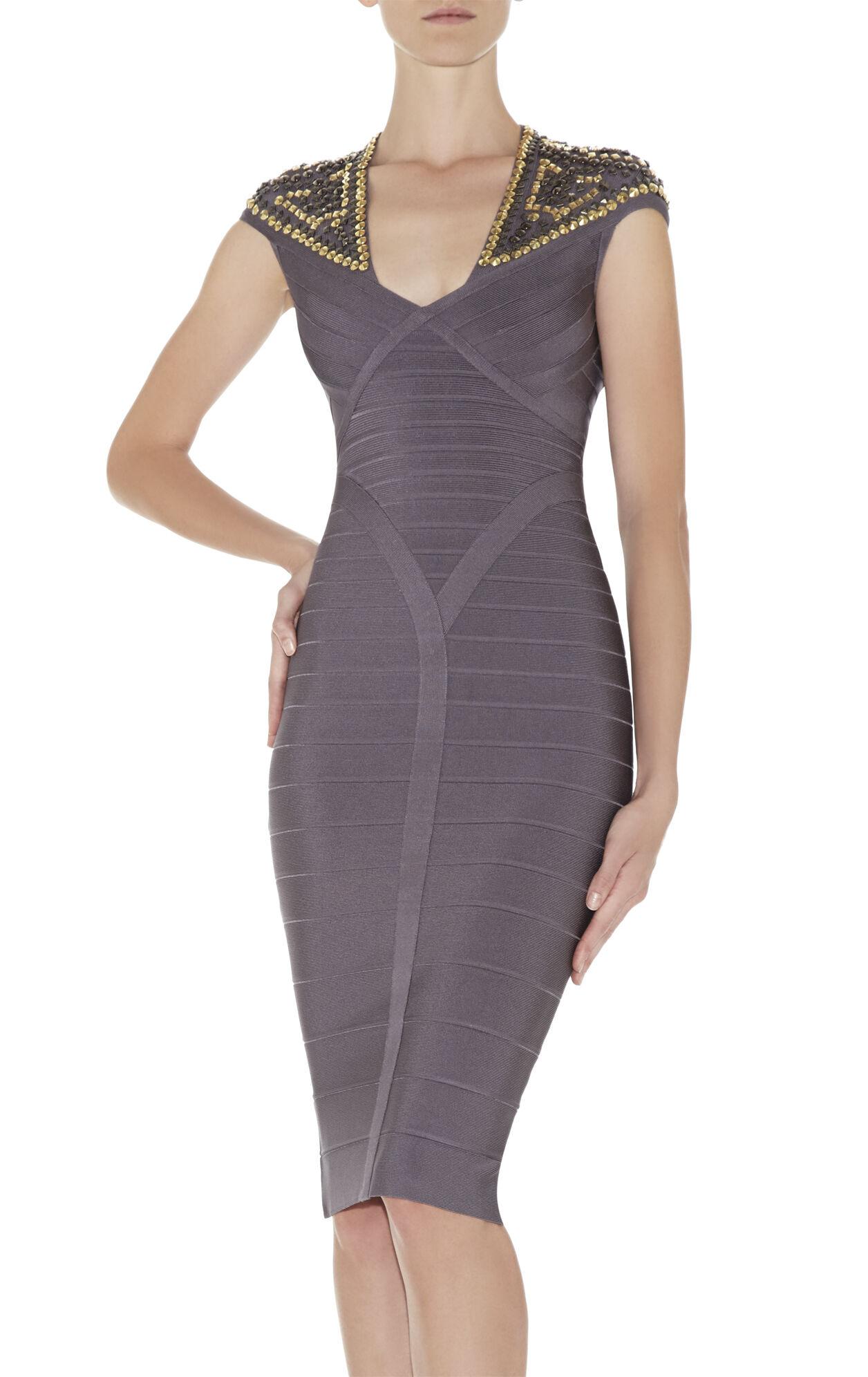 Camira Studded-Detail Dress
