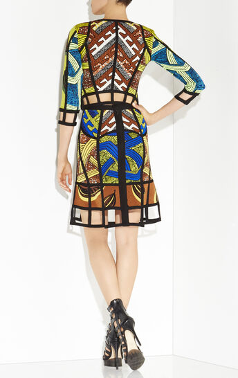 Secilia Tribal Jacquard Cutout Jacket