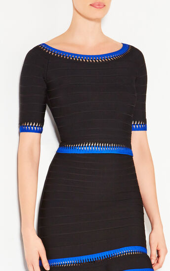Gaia Zigzag Cutout Detail Top
