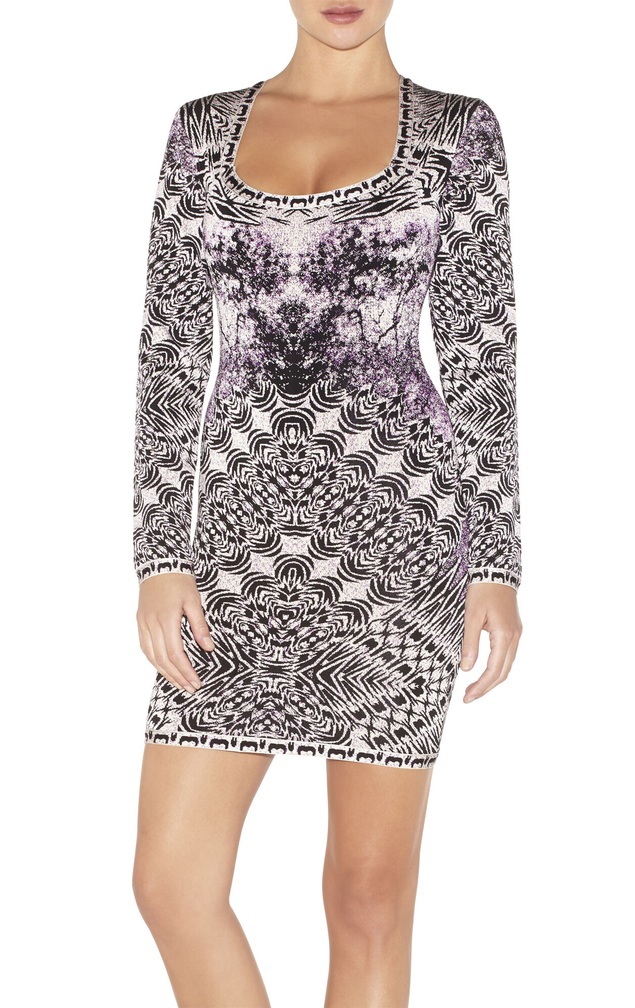 Melissa Photographic Jacquard Dress