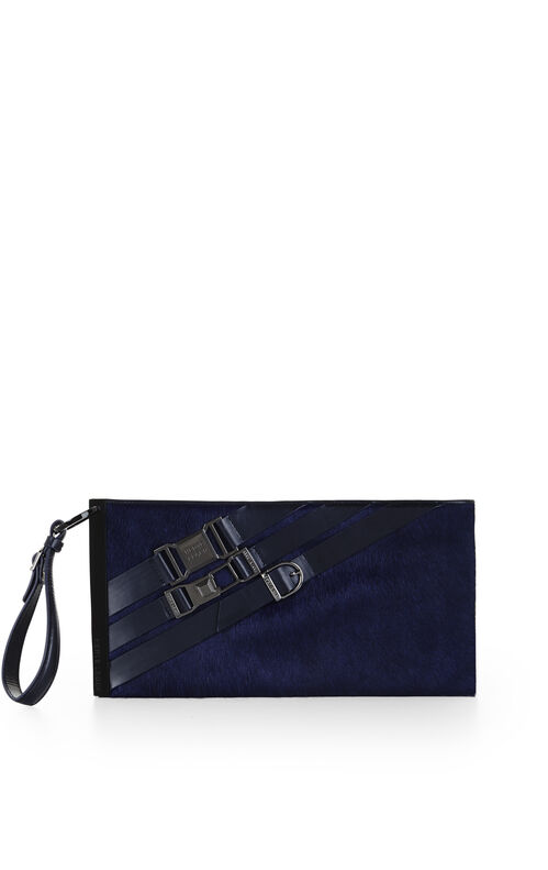 Sofia Multi-Strap Metal Bar Clutch