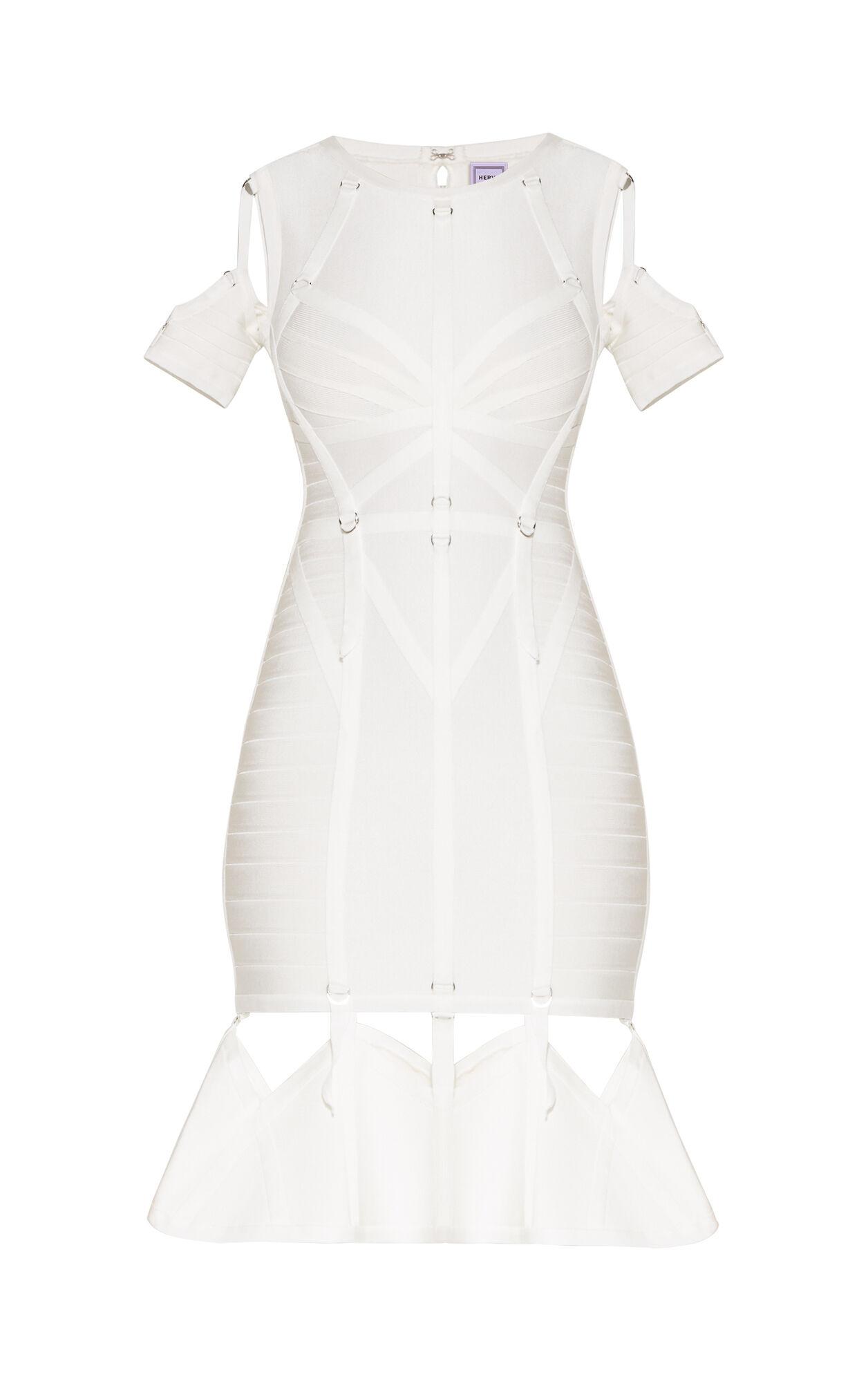 Alecia Ribbon Bandage D-Ring Flute Dress