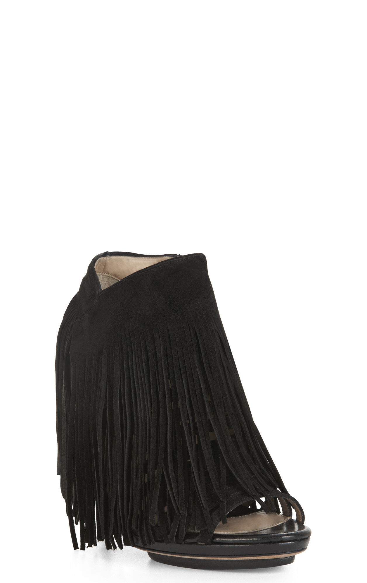 Fringed Suede Bootie