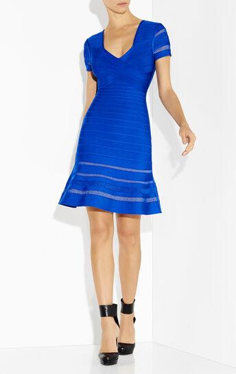 Viviana Multi-Crochet Stitch Flounce Dress