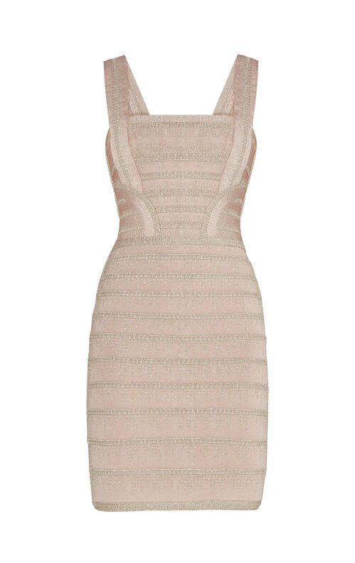 Alyia Metallic Crochet Dress