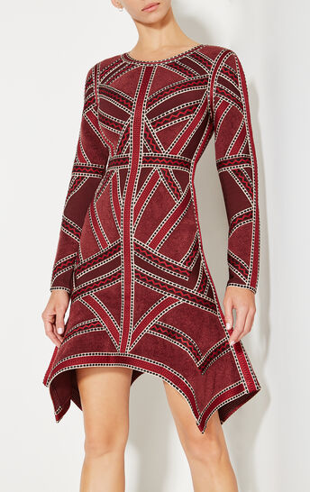 Carlotta Geometric Jacquard Dress