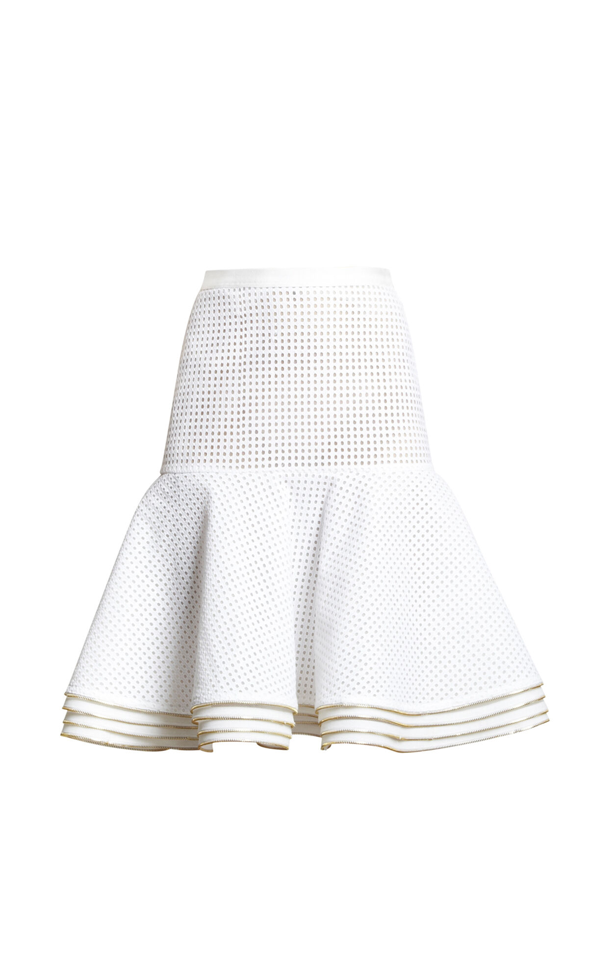 Nikola Diamond-Eyelet Zipper-Detailed Skirt