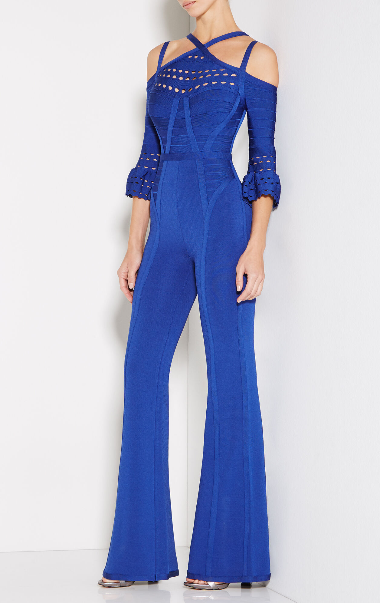 Cayleigh Flared-Sleeve Cutout Jumpsuit