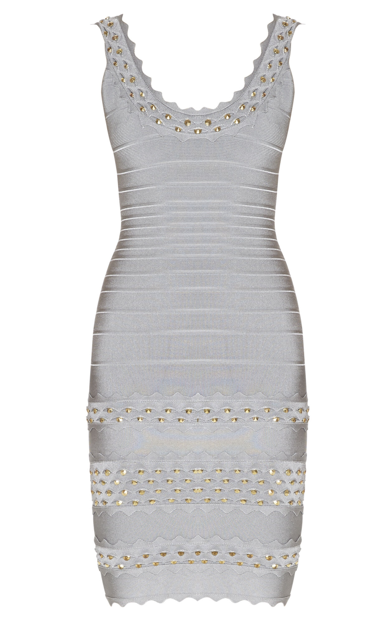 Saige Studded Honeycomb Jacquard Dress