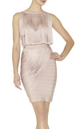 Leilei Draped-Bandage Dress