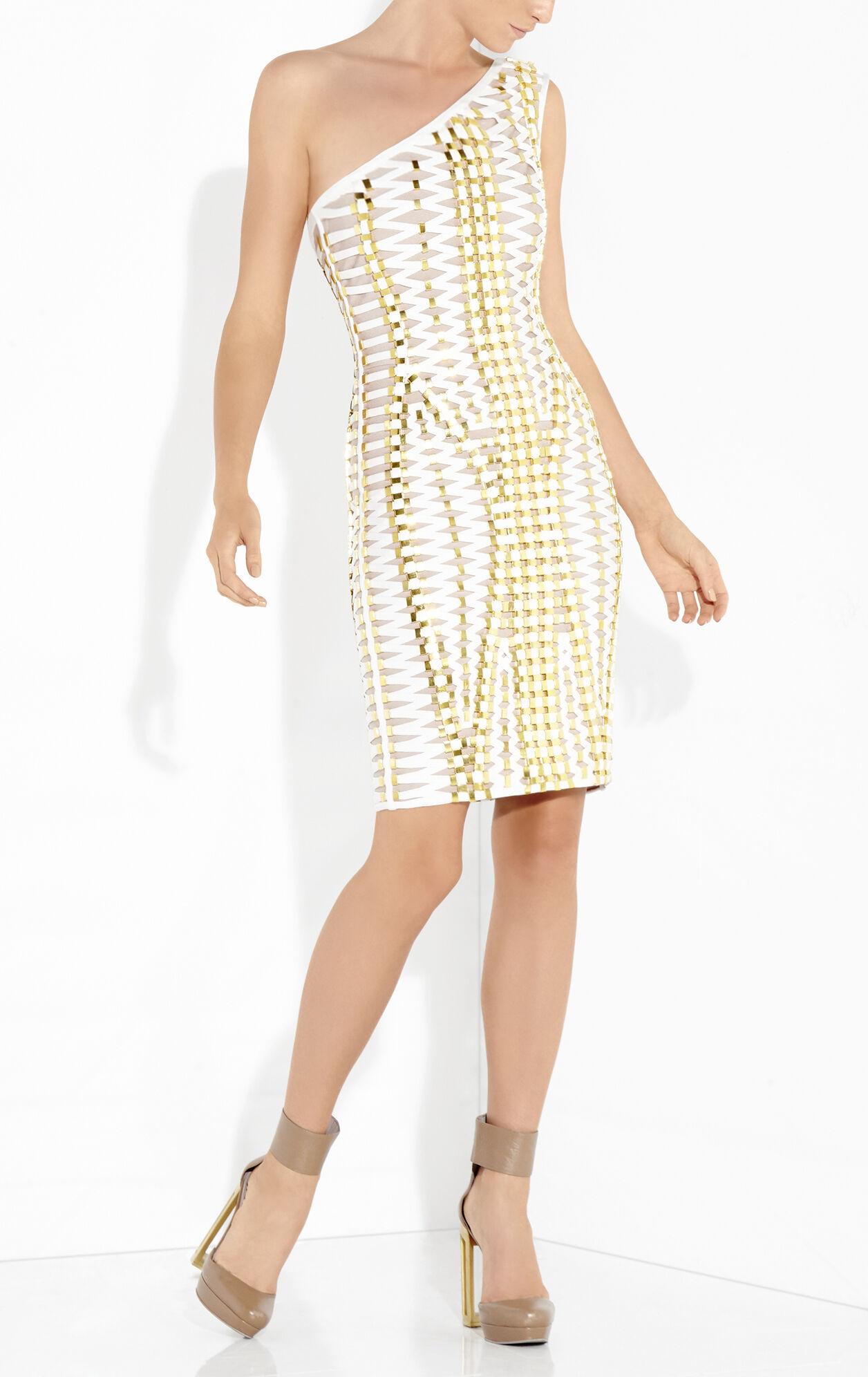 Luan Lace-Up Beaded Bandage Dress