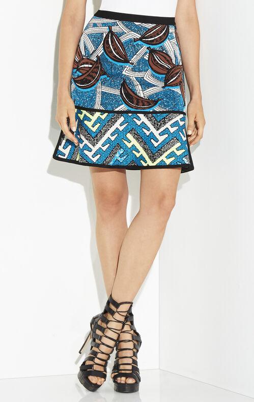Amery Tribal Jacquard Flounce Skirt
