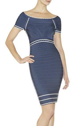 Kym Tipped Scalloped-Edge Dress