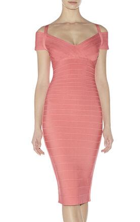 Kelis Signature Off-the-Shoulder Bandage Dress