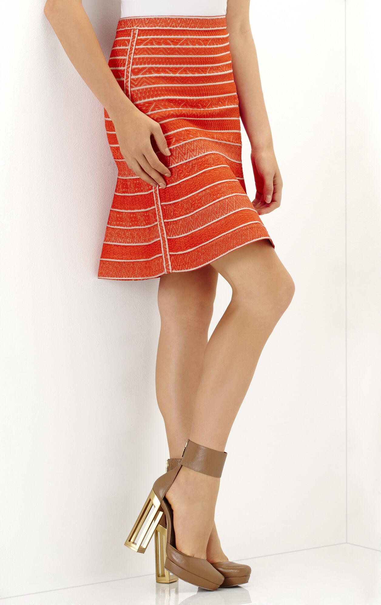 Telma Multi Chevron Textured Tipping Skirt