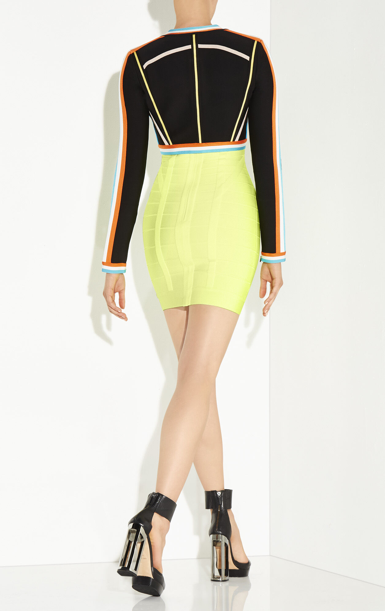 Asha Textured Color-Blocked Cropped Jacket