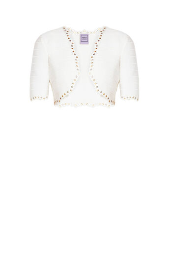 Ramira Lace Scallop Metal Eyelets Jacket