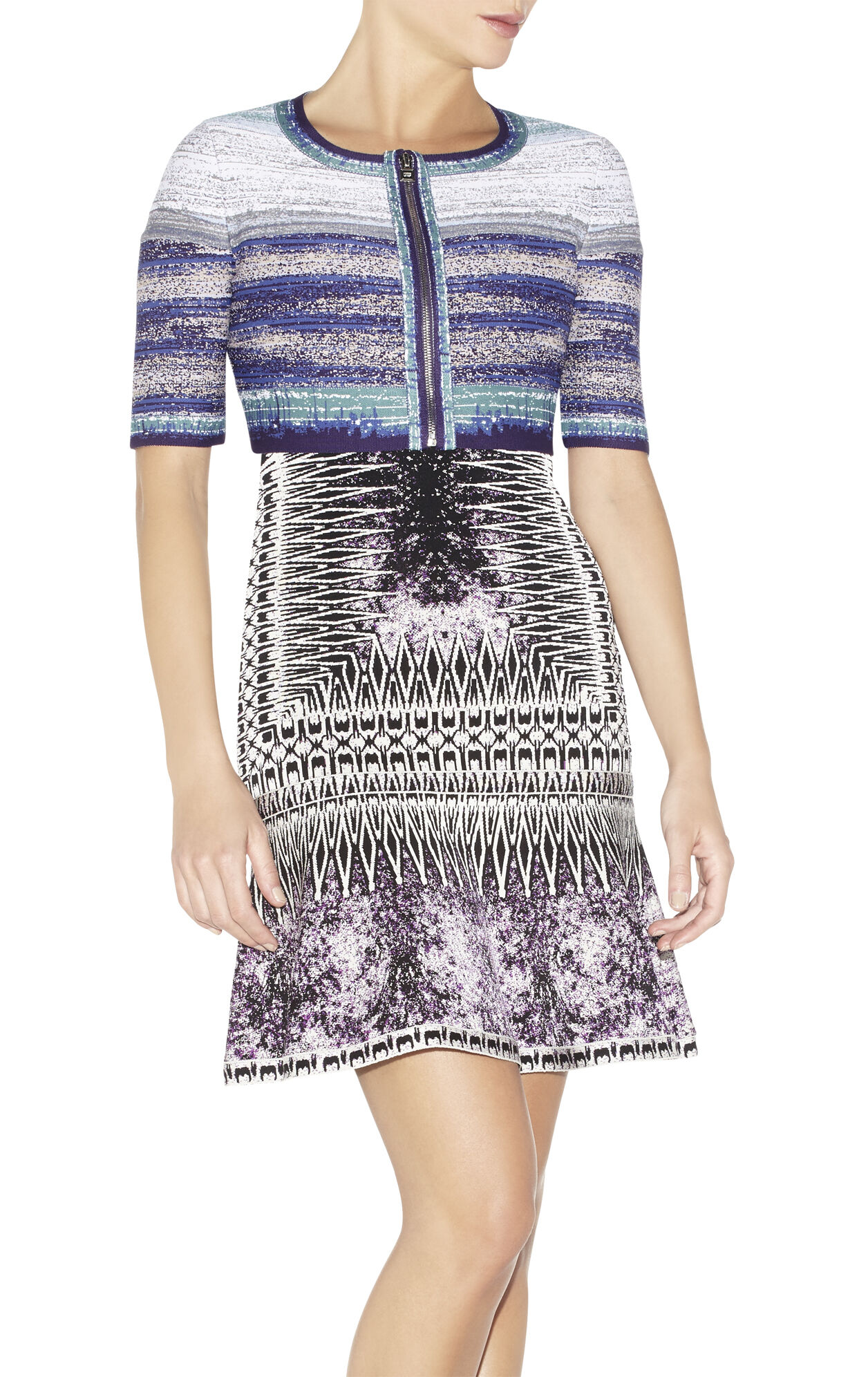 Courtney Watercolor Jacquard Ombre Jacket