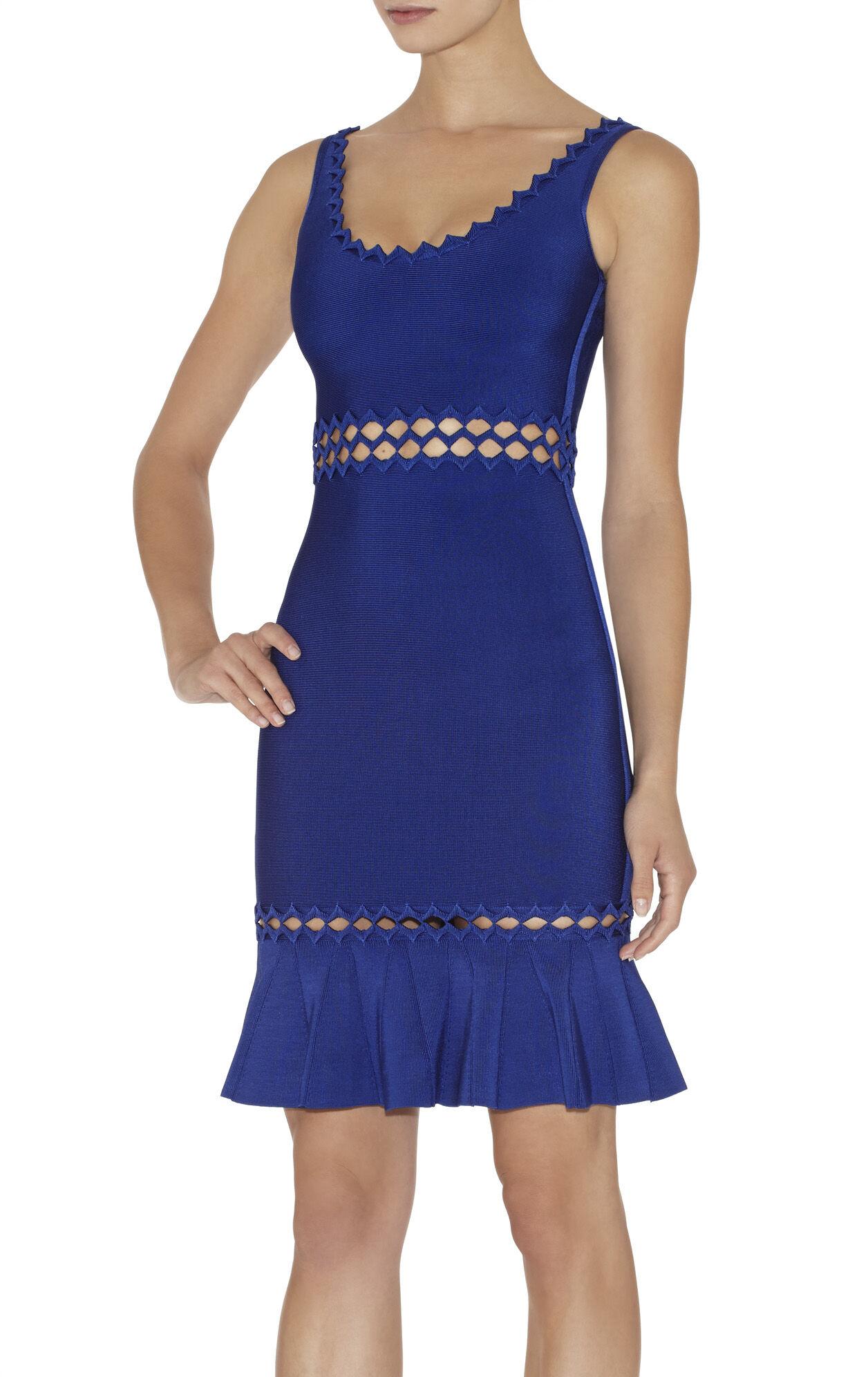 Anais Diamond Open-Applique Dress