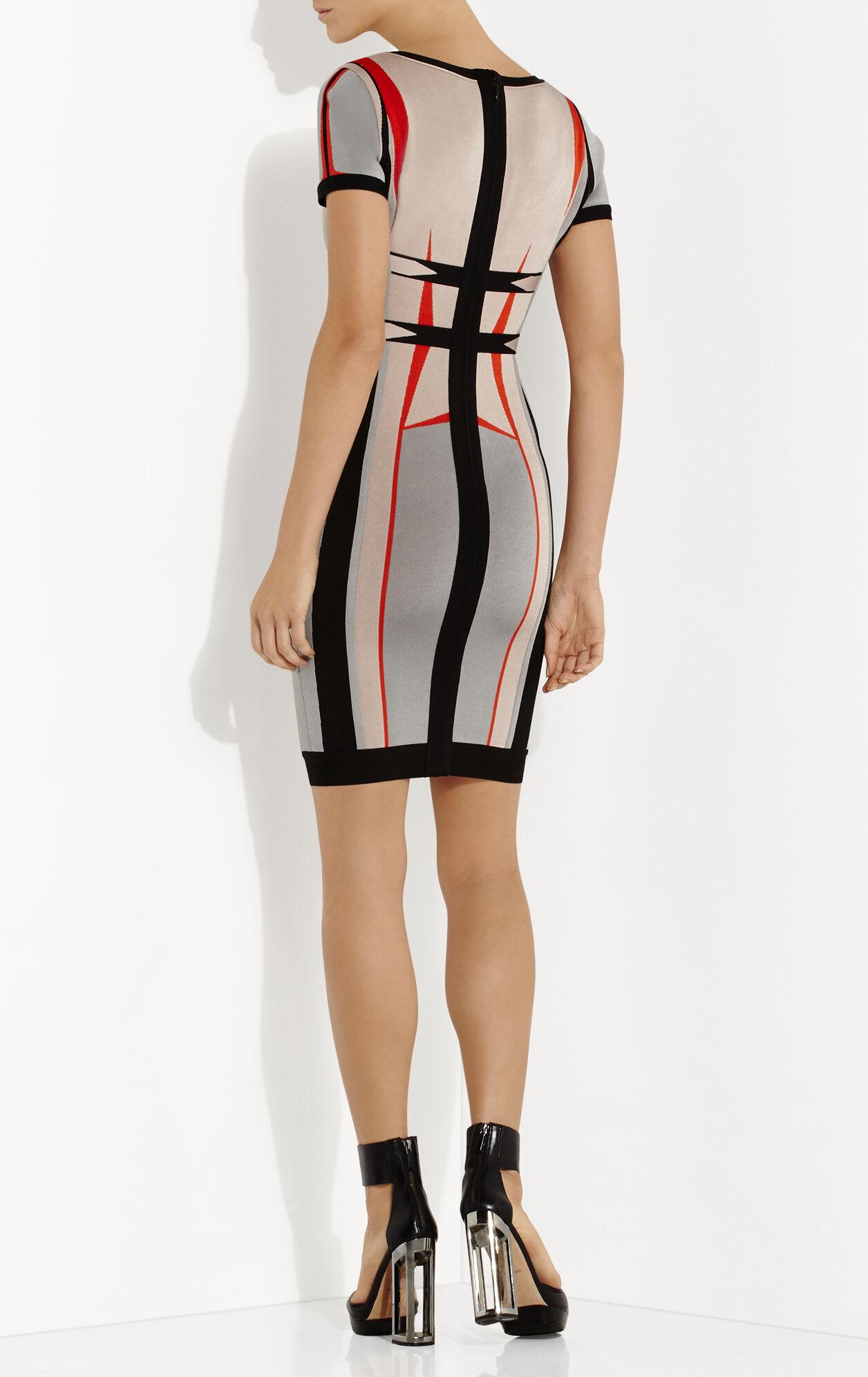 Gabi Engineered Colorblocked Jacquard Dress