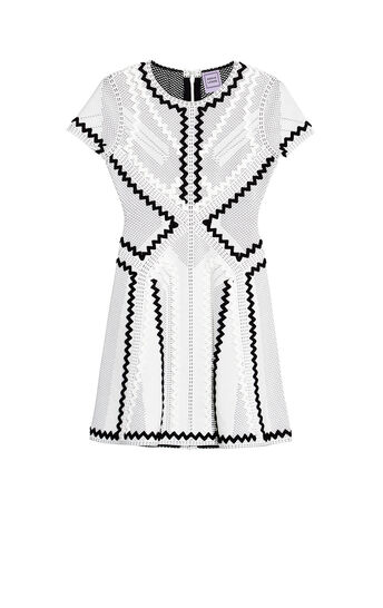 Morena Pointelle Zigzag Applique Dress