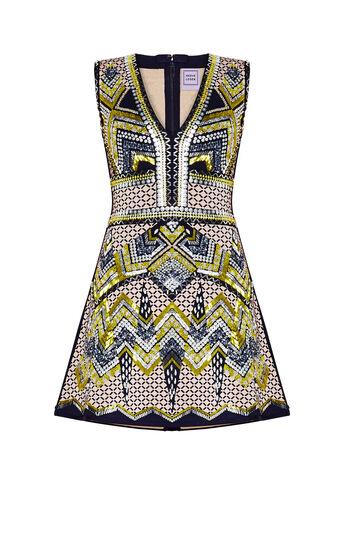 Carlota Multi-Beading Embroidered Dress
