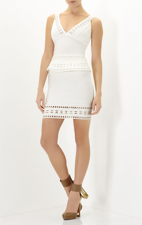 Rebeca Embroidered Englese Cutout Dress