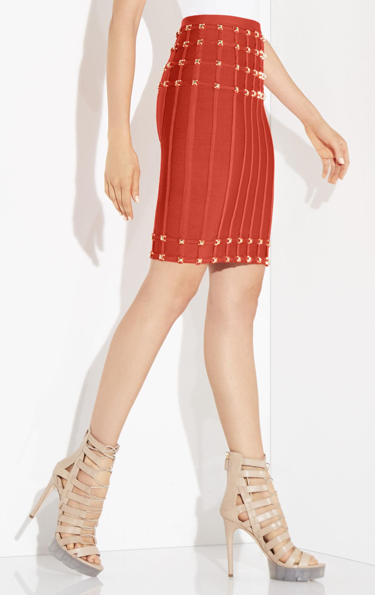 Abriana Studded Pencil Skirt