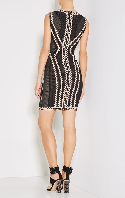 Imaan Zigzag Pointelle Knit Dress