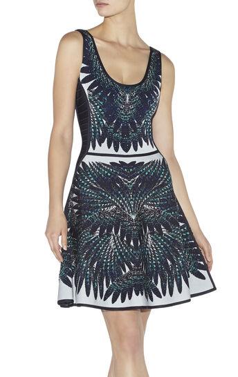 Isabela Feather-Jacquard Dress