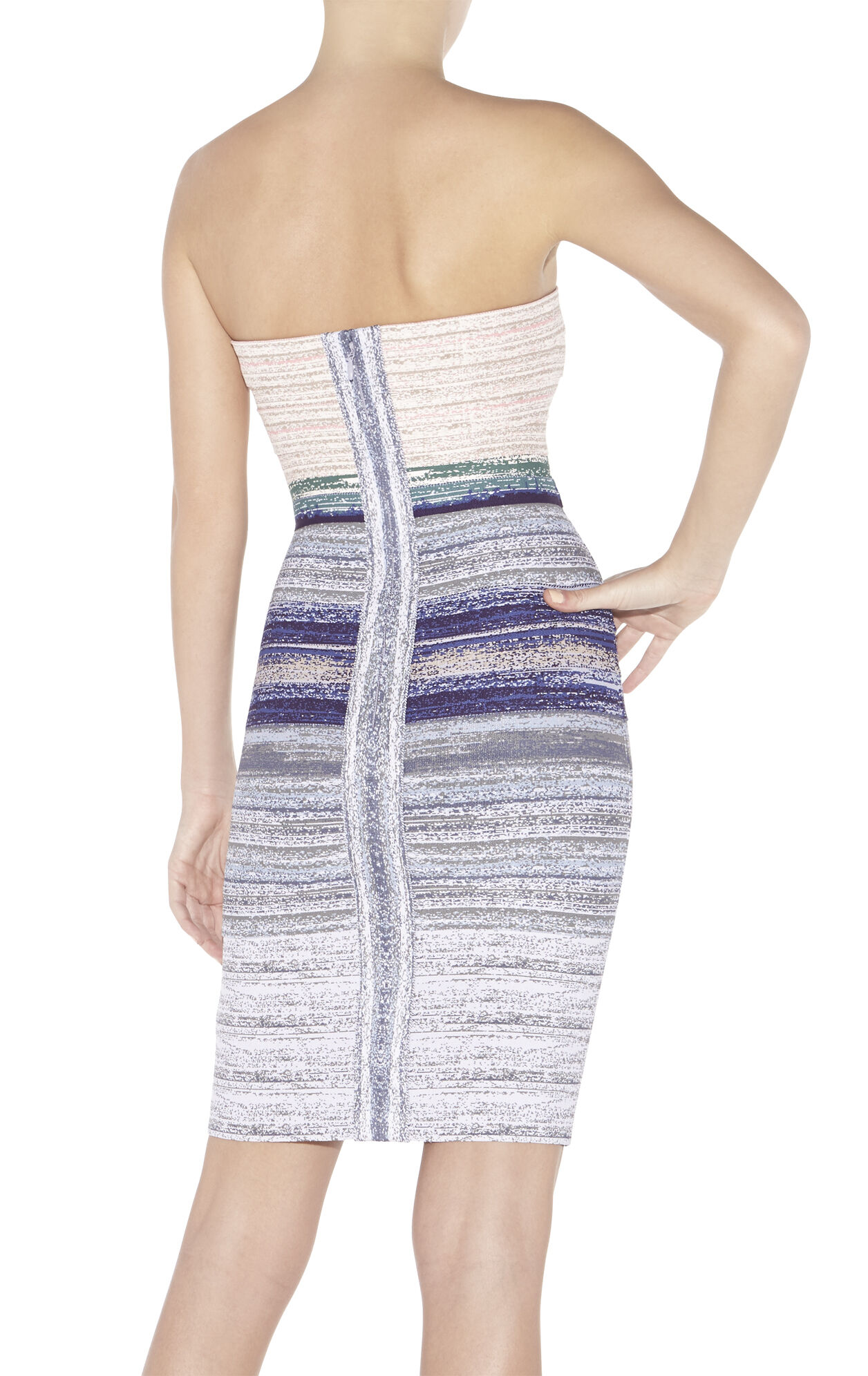 Izzie Watercolor Jacquard Ombre Dress