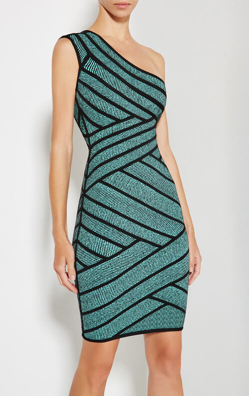 Kassidee Striped Twill Raised Jacquard Dress
