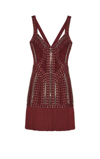 Lizbeth Eyelet Chain Lace-Up Dress