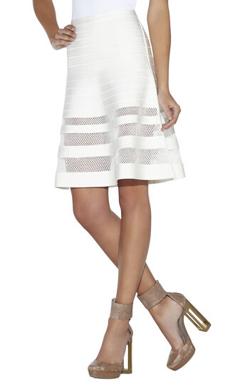 Alena Multi Stitch Crochet Detail Skirt