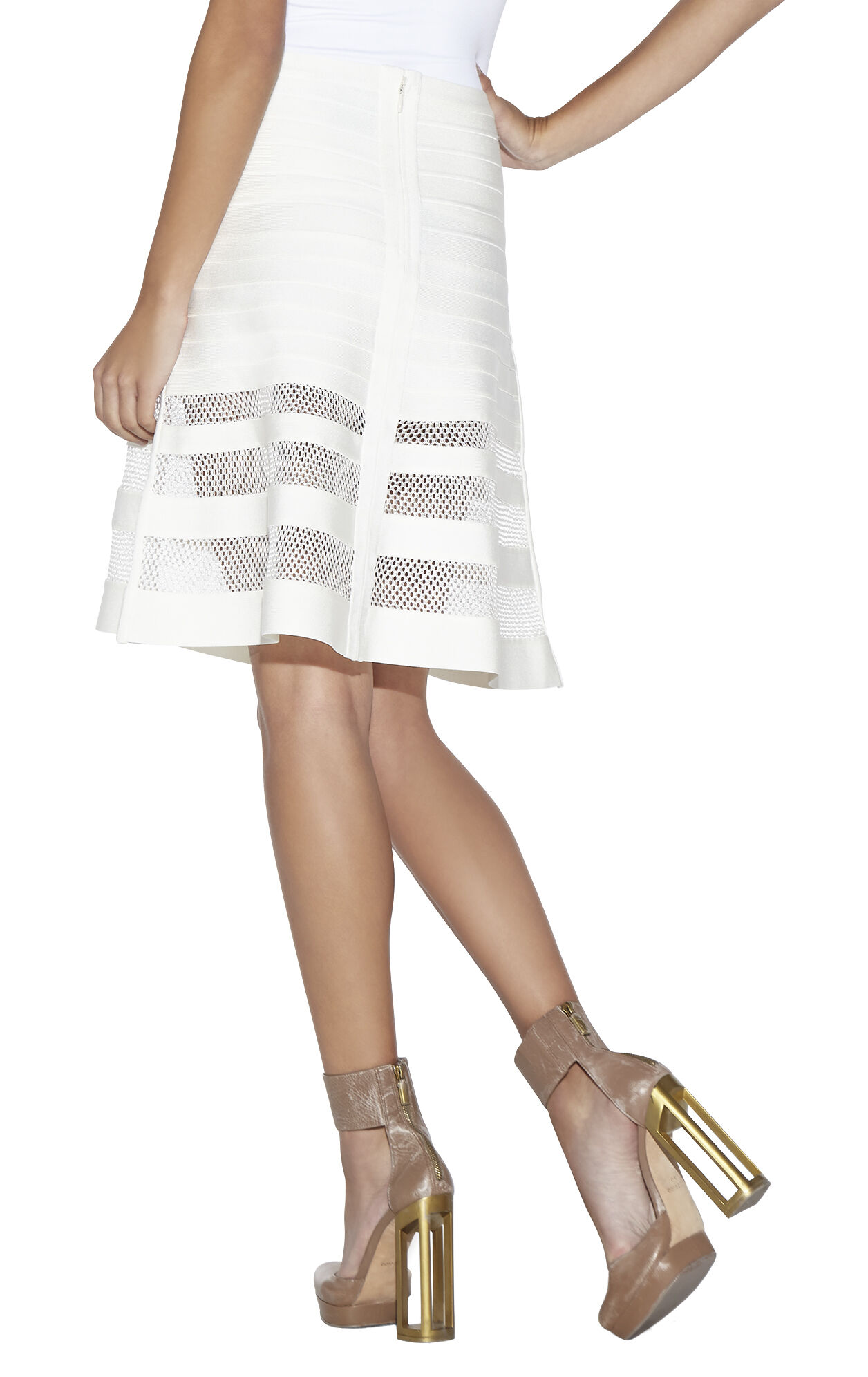 Alena Multi Stitch Crochet Detail Skirt