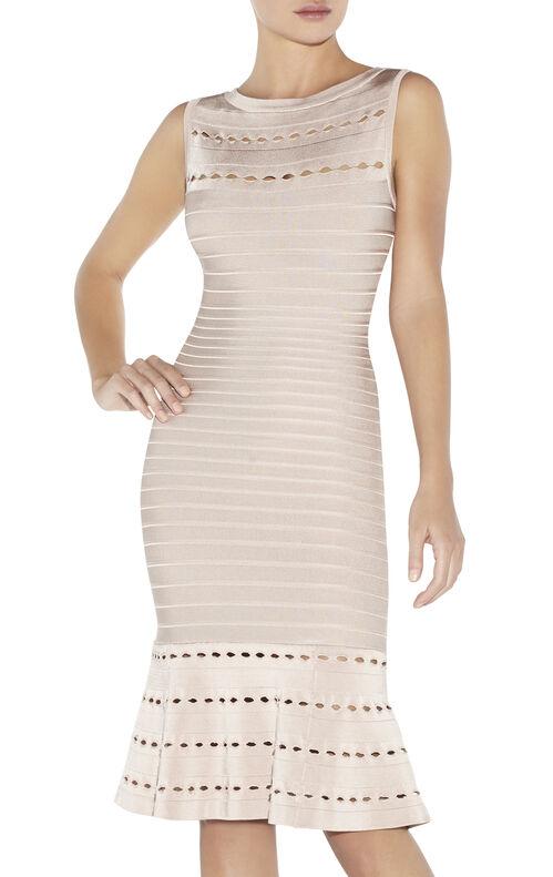 Audrina Eyelet-Detail Dress